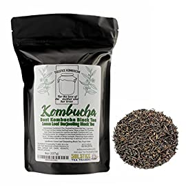 Loose Leaf Kombucha Tea Blend (8 ounces); Handblended Custom Blend Tea for Brewing Kombucha 38 Loose leaf tea blend for maximum value & health Black tea best for your SCOBY, green tea & white tea for subtle flavor, and rooibos & yerba mate for extra antioxidants Custom blend hand-blended by our tea artisans