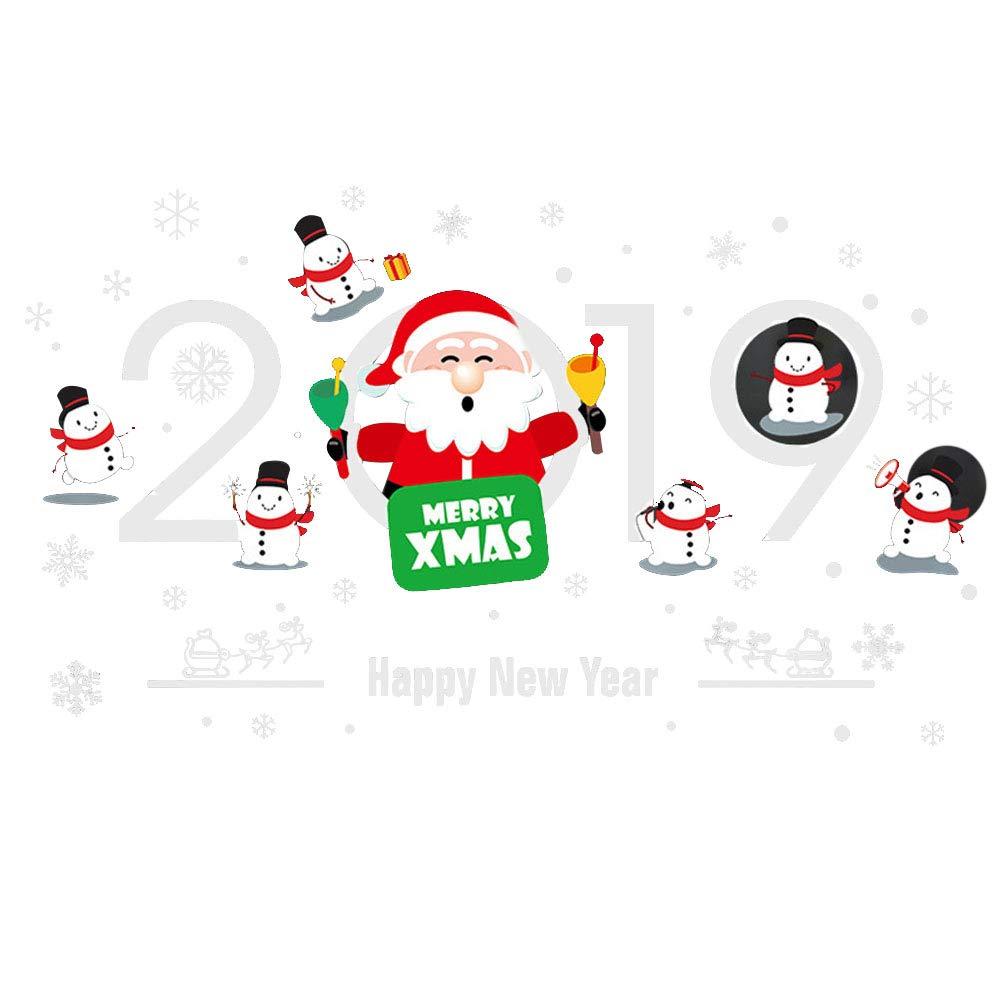 BESTOYARD Vetrofanie di Natale 2019 Capodanno Decorazioni per la casa
