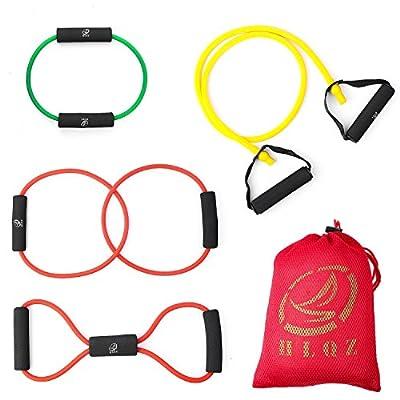 Resistance Band Resistance Tube Rehabilitation Band Sports Belt Pilates Fitness Equipment 4 Sets