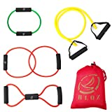 Leesion Resistance band resistance tube rehabilitation band sports belt Pilates fitness equipment 4 sets