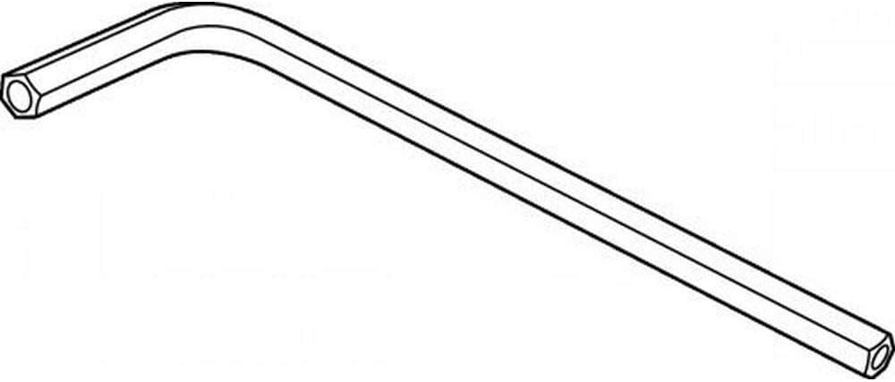tama/ño: 2,5 acero. longitud: 53 mm 1 llave hexagonal para tornillos de seguridad