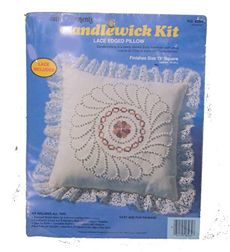 - Pinwheel Lace Edge Pillow Candlewick Craft Kit