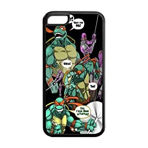 MEIMEICustom Cartoon TMNT Teenage Mutant Ninja Turtles Case for ipod touch 4 Rubber Cover Case-ipod touch 4TMNT042LINMM58281