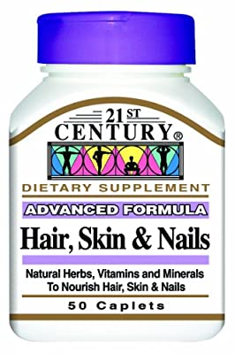 21st Century Hair, Skin and Nails 50 Caplet, (Pack of 2)