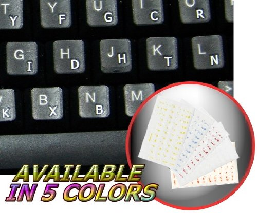 DVORAK SIMPLIFIED KEYBOARD STICKERS WITH WHITE LETTERING ON TRANSPARENT BACKGROUND FOR DESKTOP
