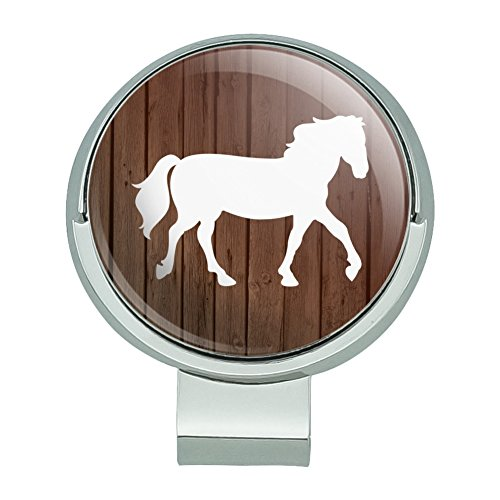 GRAPHICS & MORE Horse Silhouette Cowboy Western Golf Hat Clip with Magnetic Ball Marker