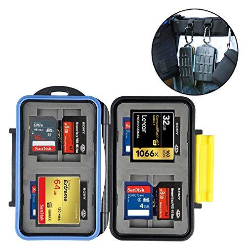 HITSAN JJC MC-3 Waterproof Dirtproof Portable CF SD MSPD XD Card Storage Box