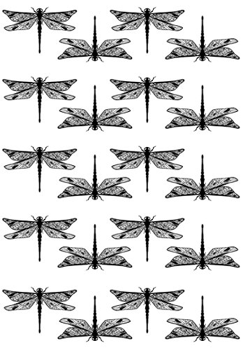 Fusible Decal - Dragonflies 1-1/8