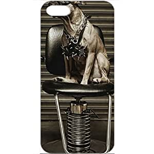 DIY Apple iPhone 5 Case Customized Gifts Personalized With Animals animals steampunk pitbull 16813 White