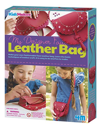 4M Make A Leather Bag Kids Craft Kit