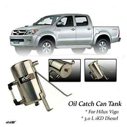 Hilux Vigo 2005++ 3.0L 1KD Diesel Turbo Stainless Steel Oil Catch Can/