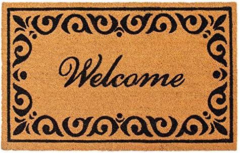 Calloway Mills 102243048 Breaux Welcome Doormat, 30 x 48 , Natural Black
