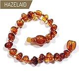 Hazelaid (TM) 5.5'' Pop-Clasp Baltic Amber Cognac Bracelet