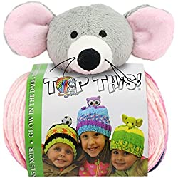 DMC Top This Glow In The Dark Mouse Yarn Kit