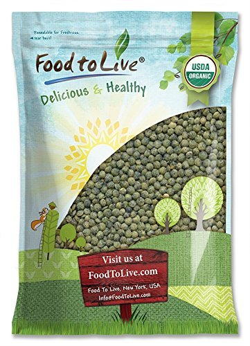 Organic French Green Lentils by Food to Live (Whole Dry Beans, Non-GMO, Kosher, Raw, Sproutable, Bulk)  10 Pounds