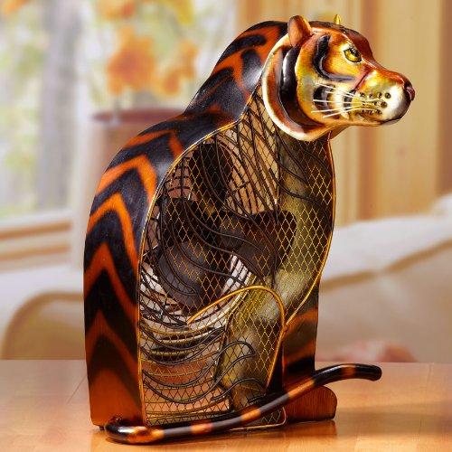 Deco Breeze Bengal Tiger Figurine Fan