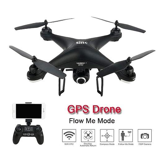 GKCD Drone y cámara, GPS 720p 1080p WiFi FPV cámara HD Remoto Modo ...