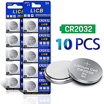 10-Pack LiCB CR2032 3V Lithium Battery