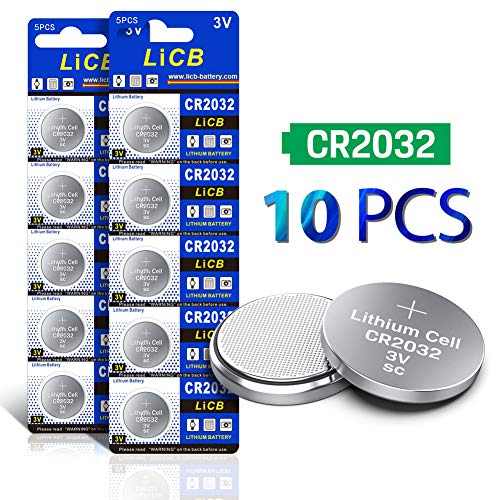 Cr2032 Lithium Button Cell Battery - LiCB CR2032 3V Lithium Battery(10-Pack)