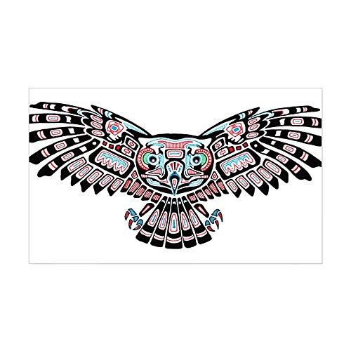 CafePress Mystic Owl in Native American Style Sticker Rectangle Bumper Sticker Car Decal