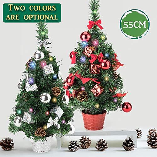8ft Christmas Tree Pre Lit: EFORINK Tabletop Christmas Tree 21 Inch Mini Pre-lit