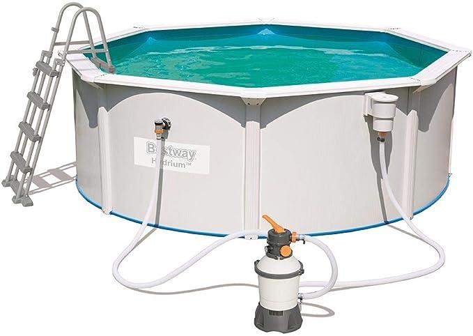 BESTWAY 56574 - Piscina Desmontable de Acero Hydrium 360x120 cm Depuradora de arena de 2.006 litros/hora: Amazon.es: Jardín