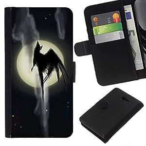 All Phone Most Case / Oferta Especial Cáscara Funda de cuero Monedero Cubierta de proteccion Caso / Wallet Case for Sony Xperia M2 // Full Moon Monster