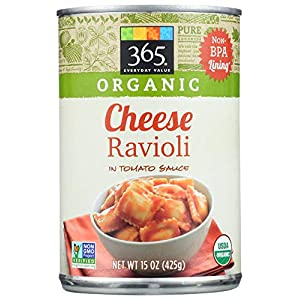 365 Everyday Value, Organic Cheese Ravioli in Tomato Sauce, 15 oz