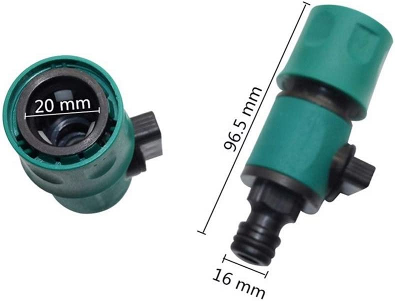 Tumble Dryer Vent Hose Garden Valve with Quick Connector for Car Wash Garden Watering Agriculture Irrigation Pipe Fittings Control Water Flow 10 Pcs (Color : Green) Green