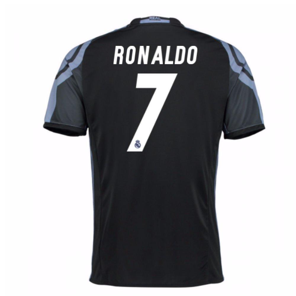 2016 – 17 Real Madrid 3rdシャツ( Ronaldo 7 ) B0785N4N98ブラック Small 36-38\