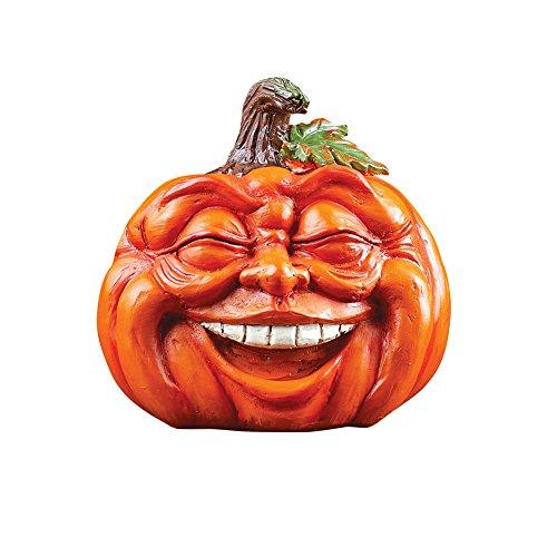 Collections Etc Expressive Pumpkins Fall Table Top D cor, Short