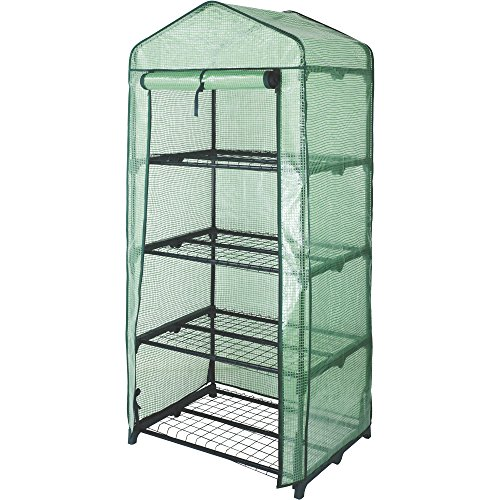 4-Tier Mini Greenhouse — 27in.W x 19in.D x 63in.H