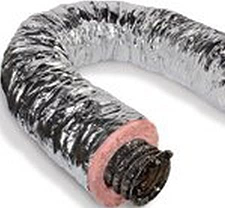 """16/"""" x 25/' Insulated Flexible Flex Duct Ducting Silver R6 Inch Heating /& Cooling"""