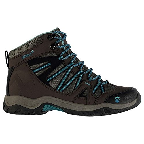 Ottawa Shoes Boots Gelert Lace Walking Teal Womens Ankle Brown Padded Mid Up Collar vI5a5wqH