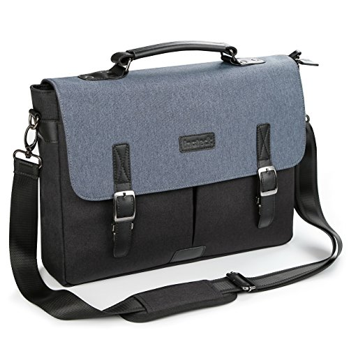 Inateck Vintage Messenger Bag,14-14.1 Inch School Shoulder Bag Laptop Bag Satchel Compatible 15 Inch MacBook Pro 2018/2017/2016 and Up to 14.1 Inch Laptop Ultrabook