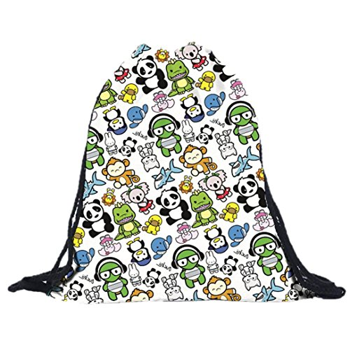 kingko-Unisexe-Sacs--dos-Sacs-dimpression-Drawstring-BackpackSacs--dos-enfant-Unisexe-Sac-de-voyage-Sacs--cordon-pour-bb