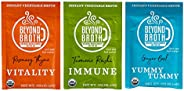 Beyond Broth Trial Variety Pack Organic Vegan Vegetable Instant Sipping Broth For On The Go Or Cooking Keto, P