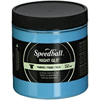 Speedball Art Products Night Glow Fabric Screen Printing Ink, 8oz, Blue