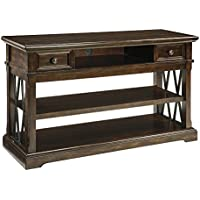 Signature Design Roddinton Dark Brown Wood Sofa Table by Ashley