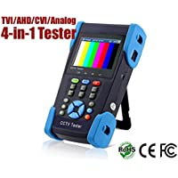HDView® 4-in-1 CCTV Tester for HD-AHD / CVI / TVI / Analog Cameras, 1080P, BNC, 1A 12V DC Power Out, Network Cable Tester, Rechargeable Battery, WiFi, Audio-In+Out