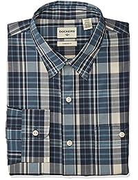 Dockers 2 Pocket Work Shirt  Camisa cuadrada casual para hombre