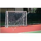 Par de Rede de Futsal Oficial Fio 6 Reforçado na cor Branca