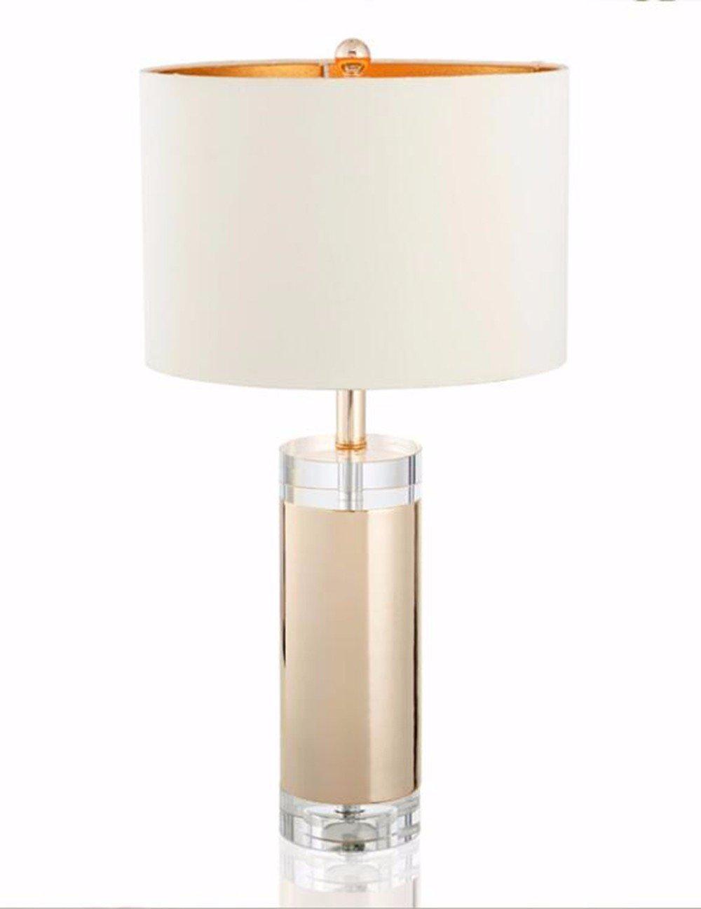 CJSHV-lampada da tavolo moderno semplice oroen crystal, creativo di torta rotonda, crystal lampada, lussuosa camera, american abat - jour