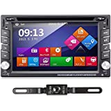 TOCADO 6.2 Car Stereo Radio Double 2 DIN Navigation TouchScreen Car DVD Player In-dash Car Audio AM/FM Radio Bluetooth USB SD Ipod with Backup Camera