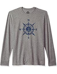 Men's Crusher Long Sleeve Lig Compass Paint Hthgry T-Shirt,