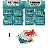 Listerine Cool Mint Pocketpaks Breath Strips, 24-24-Strip Pack total 576 strips - + 6 Pinkleaf Greeting Cards Included