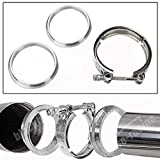 BLACKHORSE-RACING 3 Inch Stainless Steel V Band