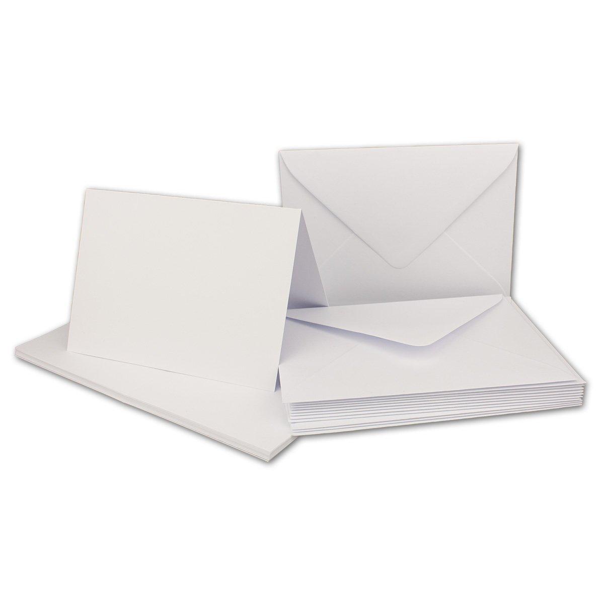 Faltkarten Set mit Brief-Umschlägen DIN A6     C6 in Rosanrot   100 Sets   14,8 x 10,5 cm   Premium Qualität   Serie FarbenFroh® B079ZVFWBS | Clever und praktisch  e5a1b2
