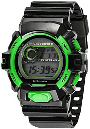 Boys Digital Backlights for Ages 5-15 Boys with Back Light Alarm Stopwatch Black Green