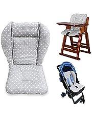 High Chair Cushion,High Chair Pad,Baby High Chair Car Seat Cushion Liner Mat Padding Cover Protection Pad Unisex(Gray Star)